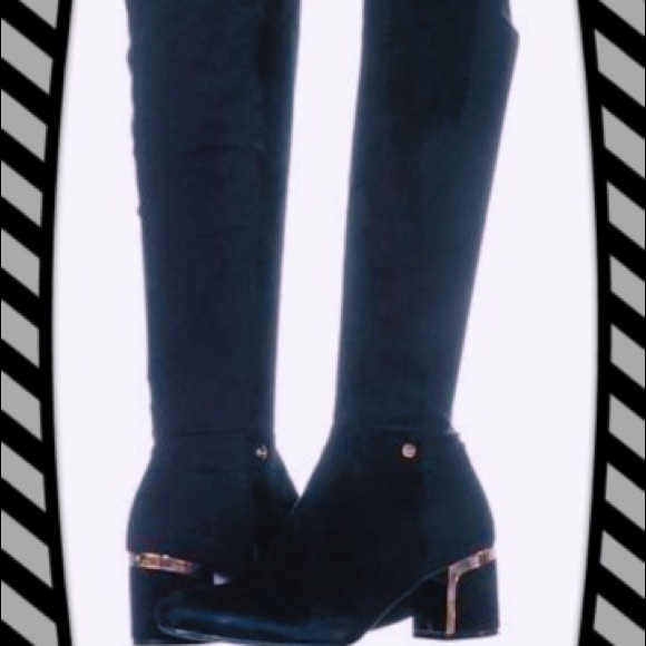 60e989b5acc DKNY CORA SUEDE KNEE BOOTS 8.5 US🌟